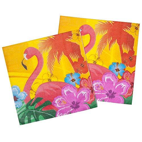 Boland- Flamingo Hibiscus Tovaglioli, Multicolore, Standard, 52521