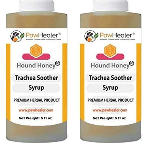 PawHealer Trachea Soother Syrup 2PAK Hound Honey - Natural Herbal Remedy for Symptoms of Collapsed Trachea - Tastes Good - Easy to Administer (5 fl oz/ea) …