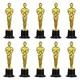 NUOBESTY Trofeos de Premio, Paquete de 10 estatuas de Trofeo de plástico Dorado para Deportes, competiciones, Fiestas, 6 Pulgadas de Alto