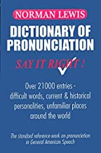 Dictionary of Pronunciation