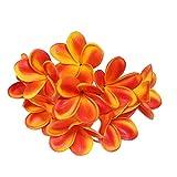 Lot de 10tiges de fleurs de frangipanier artificielles en latex pour bouquet de fleurs de mariée, décoration, fête