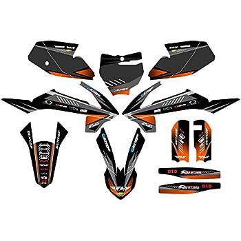 2016-2018 SX 65 Surge Black Base Senge Graphics kit Compatible with KTM