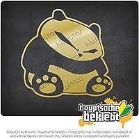 ルーシーパンダ Lousy panda 10,5cm x 10cm 15色 - ネオン+クロム! ステッカービニールオートバイ
