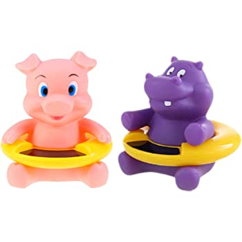 New Baby Safe Floating Bath Thermometer Cartoon Bath Tub Toy Piggy