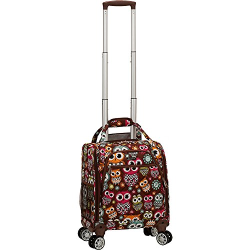 Rockland Melrose Spinner Wheel Underseater Carry-On Luggage, Owl, 19-Inch