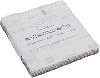 Modern Backgrounds More Paper Charm Pack by Brigitte Heitland for Zen Chic; 42-5 Inch Precut Fabric Quilt Squares
