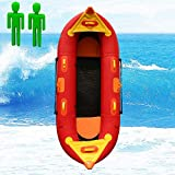ouyalis Kayak Bateau Gonflable 2.6 M Deux Personnes Gonflable De Pêche en Caoutchouc Bateau Kayak Raft Canoë Ensemble Pas Cher Mer Lac Rivière avec Siège