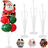 HAOYIJIA soporte para globos,Soporte de Globos con Paleta de Plástico Soporte de Globos,soporte globos,palos para globos,Adecuado para fiestas en el jardín y celebraciones con globos grandes