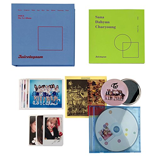 TWICE 1st Album - TWICETAGRAM [ C Ver. ] CD + Booklet + Cover Sticker + Photocards + Jewel Case + FREE GIFT / K-pop Sealed