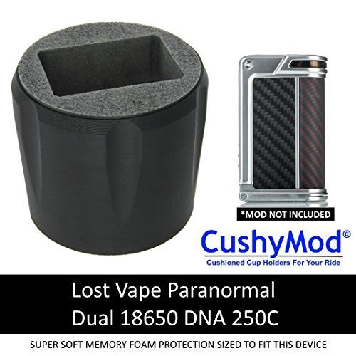 Lost Vape Paranormal DNA 250C [BLACK] CUP HOLDER CushyMod Cover Wrap Skin Sleeve Case