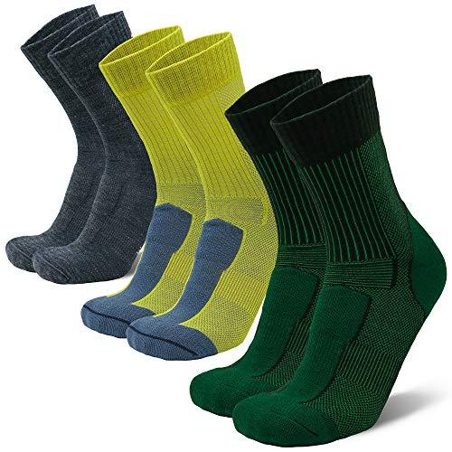 DANISH ENDURANCE Light Outdoor Walking Socks in Merino Wool for Men Women & Children, Anti-Blister Hiking & Trekking…