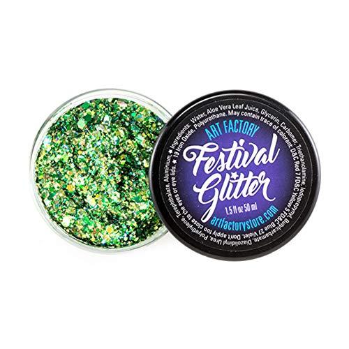 Art Factory Festival Glitter - Dragón Escala (50 ml / 1 onzas líquidas), cosmética del gel del brillo