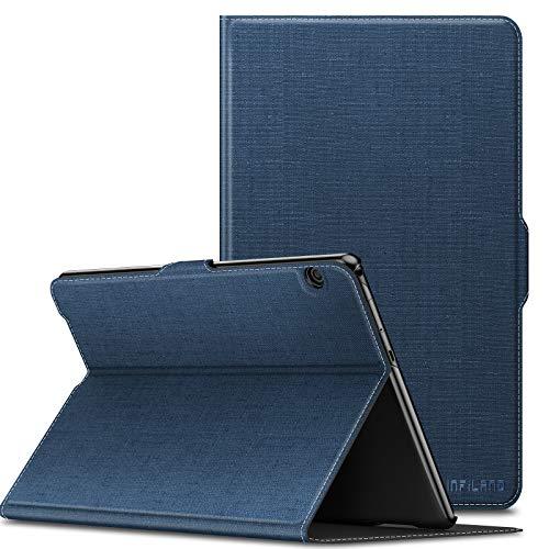 INFILAND Huawei MediaPad T5 10 Hülle,Slim Ultraleicht Halten Sie vorne Schutzhülle Cover für Huawei MediaPad T5 10 10.1 Zoll 2018 Tablet PC,Dunkleblau
