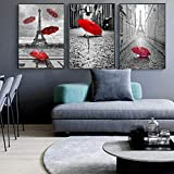 hpkcine Red Umbrella London Paris Landschaft Nordic Poster