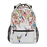 GIGIJY - Mochila de verano con diseño de flores y pájaros y mariposas, para la escuela, para viajes, informal, para niños, niñas, niños, hombres y mujeres