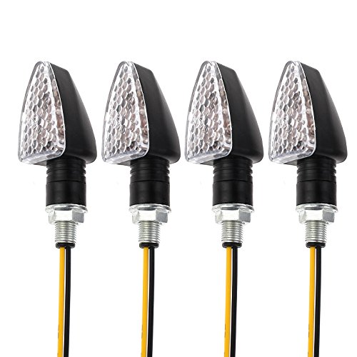 Justech 4 x Motorrad 15 LED Blinker Indikatoren Bernstein Drehen Licht 12V Miniblinker wasserdicht
