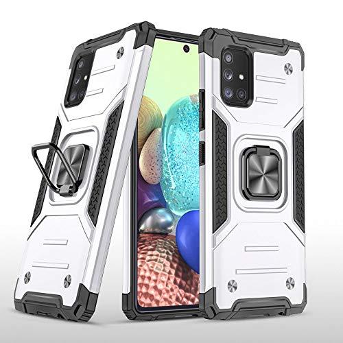 COOVY® Funda para Samsung Galaxy A71 5G SM-A716F Carcasa de PC + Silicona TPU + PC, Protección extrafuerte, función Atril, Anillo de Soporte y Soporte magnético | Lata