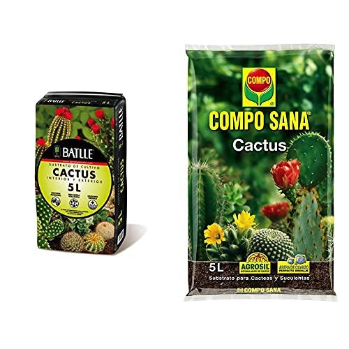 Batlle 960051Pic Sustrato Cactus 5L, Verde, 32X25X32 Cm + Compo Sana 8...