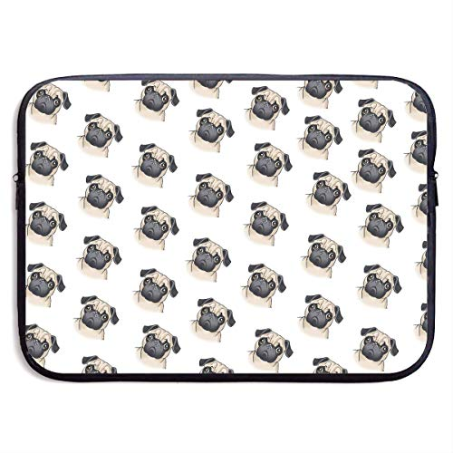 Fashion Computer Liner Sleeve Case Cute Pug Seamless Illustration for MacBook Pro/MacBook Air/Asus/Dell,13inch