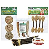 ✔ STIMULATION - Helpsprevent boredom in the cage ✔ DENTAL HEALTH - Helps keep your pet's teeth trimmed and clean. ✔ NATURAL - Offer a few chew toys daily to satisfy your pet's instinct to chew. ✔ CHEWING ANIMALS - Suggested for chinchillas, guinea p...