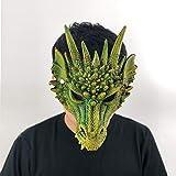 MSSJ Máscara de dragón Cosplay Wing and Tail Costume Game of Thrones Purim Halloween Carnival Kids Disfraz Decoración Disfraces AtrezzoColor Verde