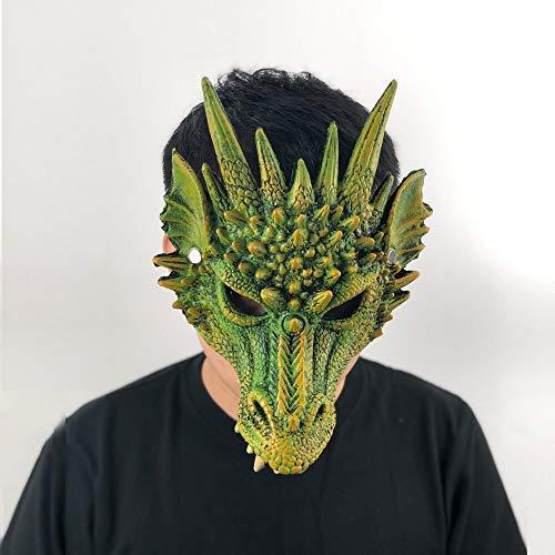 MSSJ Mscara de dragn Cosplay Wing and Tail Costume Game of Thrones Purim Halloween Carnival Kids Disfraz Decoracin Disfraces AtrezzoColor Verde