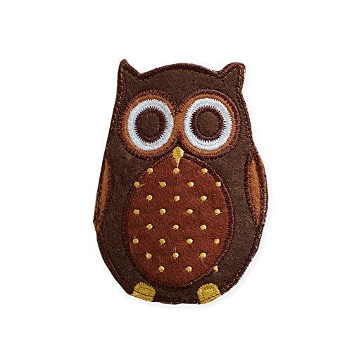 Fall Harvest Embroidered Owl Utensil Holders