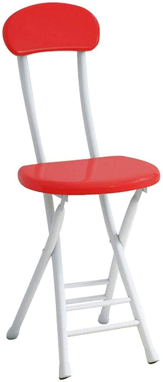 JKPA - Chairs Folding Chair Adult Bar Backrest Stool Modern Simple Home Chair Simple Portable Creative Fashion Table Stool ( color   B )