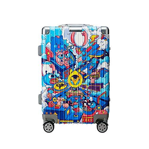20 inch cabine koffer met licht ABS+PC handbagage, hard-shell koffer met TSA slot en 4 zwenkwielen