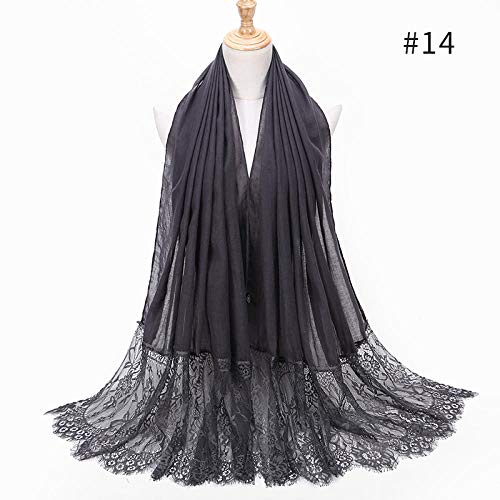 TaoRan Fashion sjaal dames naaien kant mode sjaal zomer zonnecrème lange handdoek
