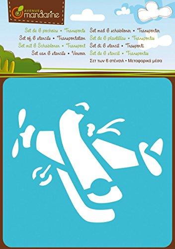 Pochoirs - Set de 6 pochoirs : Transport