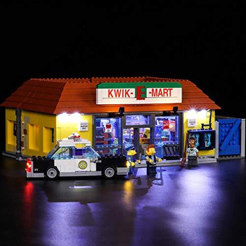 XW Kit De Iluminación LED para El Modelo De Bloques De Construcción del Supermercado Simpson - Juego De Luces USB Compatible con El Juguete Lego 71016 - No Incluye El Modelo Lego