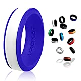 UROKAZ Nurse Silicone Ring Rubber Wedding Bands for Men Mens Plastic Rings 6mm bondwell Size 8 15 and Women 10 13 Green