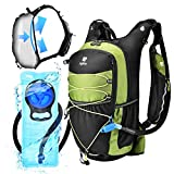 ZOFOW Hydration Backpack Pack 70oz 2 Liter TPU BPA Free Hydration Water Bladder Tactical Water Vest Lightweight Bike Bag Outdoor Gear Kit for Hiking Cycling Running Camping Hunting for Women Men