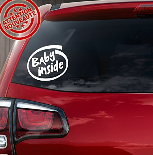 Sticker autocollant bébé à bord Baby inside
