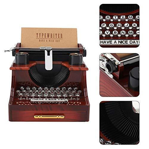 Zwindy Carillon Vintage, Carillon Meccanico Stile Macchina da Scrivere, Artigianato Musicale in plastica con cassetto, per Gioielli, Regalo di San Valentino di Compleanno