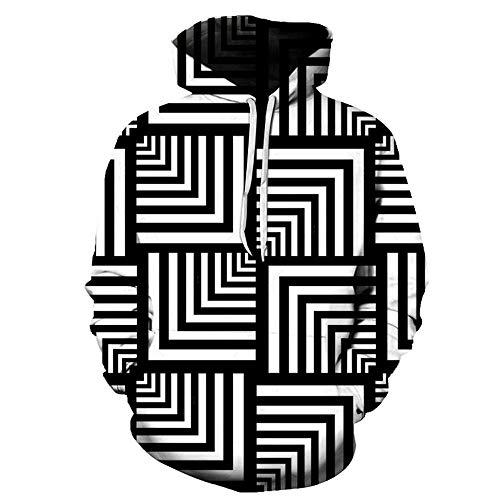 Hoodies Herbst Winter Liebhaber Teen Unisex Hoodies Pullover Tops Casual Pullover Langarm Hoody Taschen Lustige Symmetrische Figur 3D-Druck S-6Xl