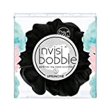 Invisibobble Sprunchie True Black, Stoff Haargummi schwarz für Mädchen und Damen, kein verknoten,...