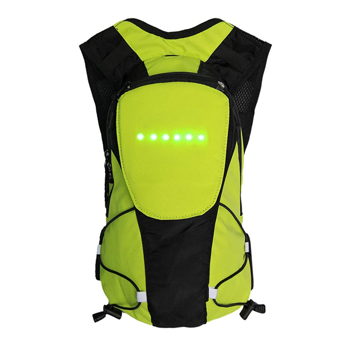 Gotian Safety Cycling LED Wireless Remote Control Turn Signal Warning Lamp Backpack Bag, Safest Option for Visibility When Traveling Roadside Day Or Night.