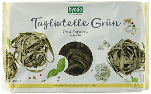 Byodo Grüne Tagliatelle - Nester, 6er Pack (6 x 250 g Packung) - Bio
