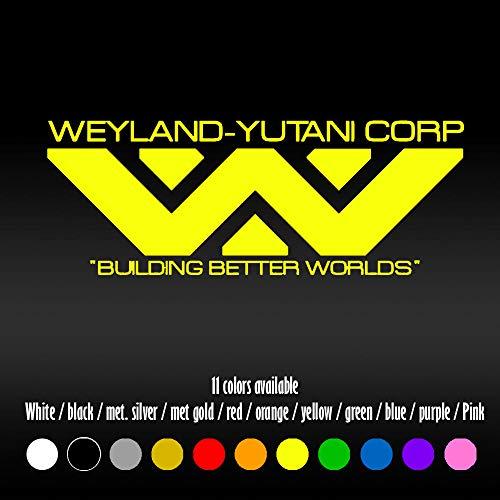 "ShopForAllYou Stickers & Decals (Color Yellow) 8"" Weyland-Yutani Corporation Alien Car Window Diecut Vinyl Decal Sticker"