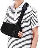 Armschlinge Doact Schulter Bandage für gebrochene Arme füR Erwachsene Handgelenk, Ellenbogen, Schulterverletzungen für Damen und Herren, linkes oder rechts Arm Schwarz