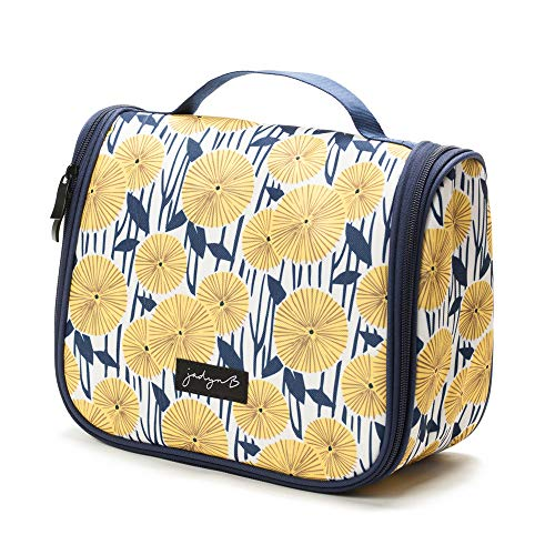 Jadyn B Hanging Toiletry Bag and Travel Cosmetic Organizer for Women (Yellow Flowers)