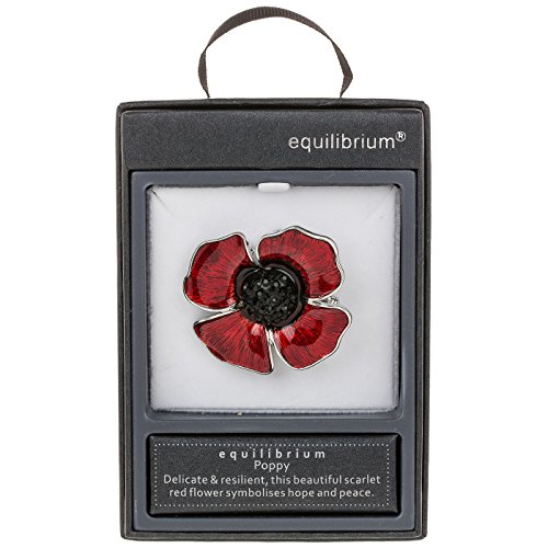 Poppy Remembrance Brooch Jewellery Equilibrium Collection