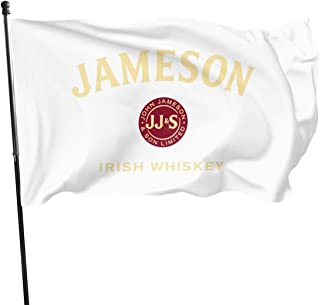 Knbro Jameson Irish Whiskey Logo Flags 3x5 Foot Polyester Banner Flags 3x5 Ft