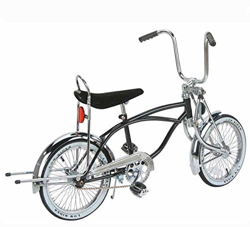 16in Black Mens Lowrider Bike, Black Banana Seat and Black w/ White Wall Tires by Unknown
