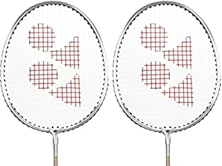 Yonex Badminton Racquet GR 303 With Extra Grip Pack Of 2 (Silver)
