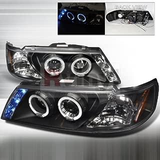 Spec-D Tuning Nissan Sentra 1995 1996 1997 1998 1999 LED Halo Projector Headlights - Black