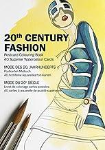 20th Century Fashion: Postcard Colouring Book: 40 superior watercolour cards