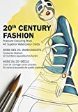 20th Century Fashion: 40-page Postcard Colouring Book (Multilingual Edition): 40 superior watercolour cards